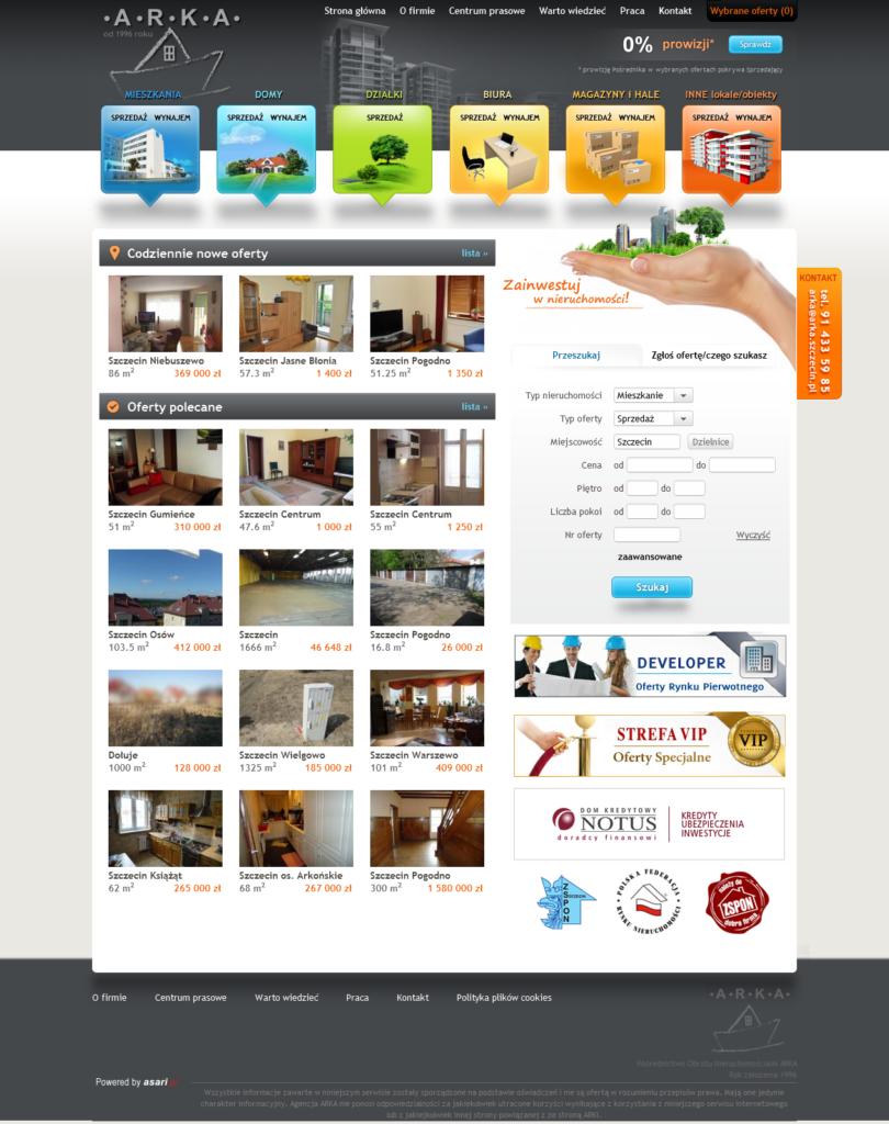 oprogramowanie strona www biuro nieruchomości