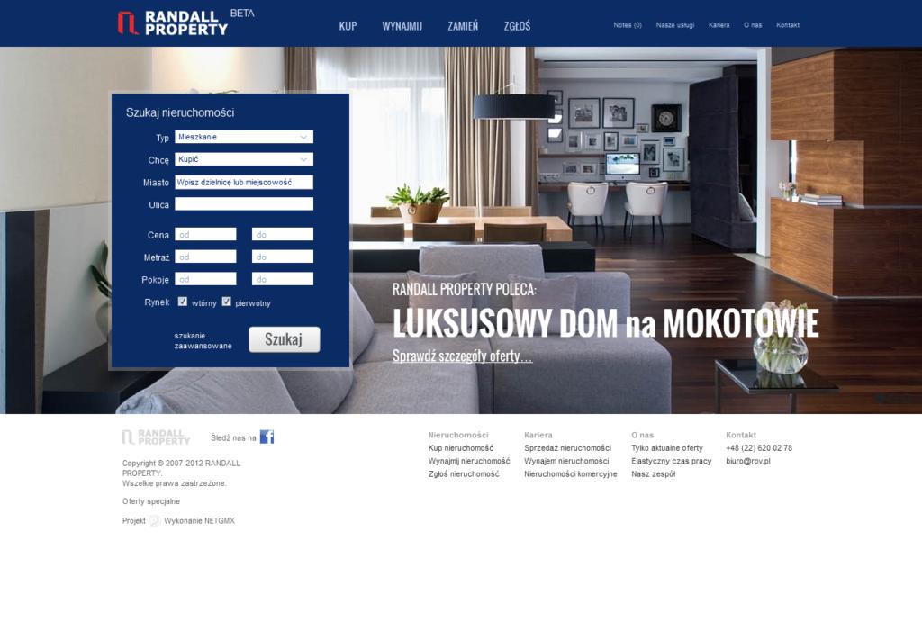 program strona www dla agenta nieruchomości