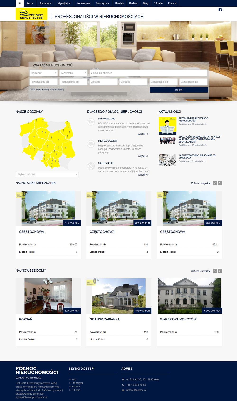 strona internetowa biura nieruchomości