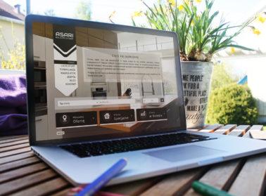 szablon 1 strona internetowa dla biur nieruchomości